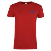 Ladies Red T Shirt-Catawba Primary Mark
