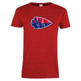 Ladies Red T Shirt-Arrowhead