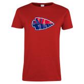 Ladies Red T Shirt-Arrowhead