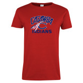 Ladies Red T Shirt-Catawba Indians
