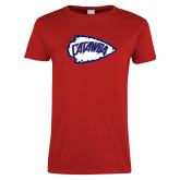 Ladies Red T Shirt-Catawba Arrowhead