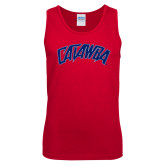 Red Tank Top-Catawba Primary Mark