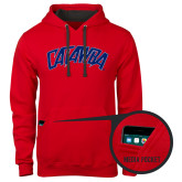 Contemporary Sofspun Red Hoodie-Catawba Primary Mark