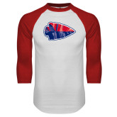 White/Red Raglan Baseball T-Shirt-Arrowhead