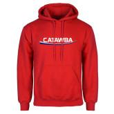 Red Fleece Hoodie-Catawba with Swoop