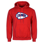 Red Fleece Hood-Catawba Arrowhead
