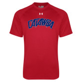 Under Armour Red Tech Tee-Catawba Primary Mark