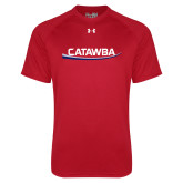 Under Armour Red Tech Tee-Catawba with Swoop