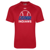 Under Armour Red Tech Tee-Baseball on Top
