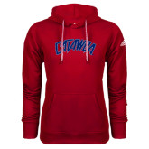Adidas Climawarm Red Team Issue Hoodie-Catawba Primary Mark