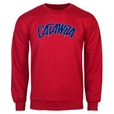 Red Fleece Crew-Catawba Primary Mark