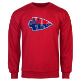 Red Fleece Crew-Arrowhead