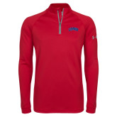 Under Armour Red Tech 1/4 Zip Performance Shirt-Catawba Primary Mark