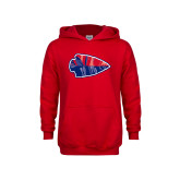Youth Red Fleece Hoodie-Arrowhead