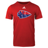 Adidas Red Logo T Shirt-Arrowhead
