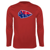 Performance Red Longsleeve Shirt-Arrowhead