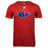 Adidas Climalite Red Ultimate Performance Tee-Arrowhead