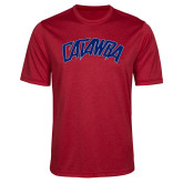 Performance Red Heather Contender Tee-Catawba Primary Mark