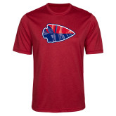 Performance Red Heather Contender Tee-Arrowhead