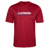 Performance Red Heather Contender Tee-Catawba with Swoop