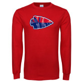 Red Long Sleeve T Shirt-Arrowhead