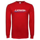 Red Long Sleeve T Shirt-Catawba with Swoop