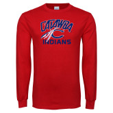 Red Long Sleeve T Shirt-Catawba Indians