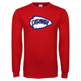 Red Long Sleeve T Shirt-Catawba Arrowhead