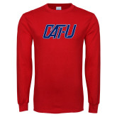 Red Long Sleeve T Shirt-Cat U