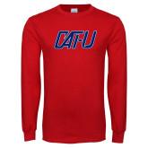 Red Long Sleeve T Shirt-Cat U