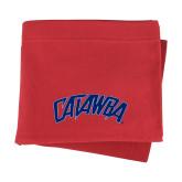 Red Sweatshirt Blanket-Catawba Primary Mark