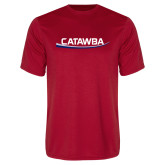Performance Red Tee-Catawba with Swoop