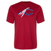 Performance Red Tee-C with Feathers