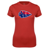 Ladies Syntrel Performance Red Tee-Arrowhead