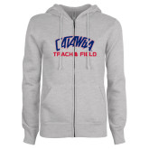 ENZA Ladies Grey Fleece Full Zip Hoodie-Track & Field