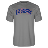 Performance Grey Concrete Tee-Catawba Primary Mark