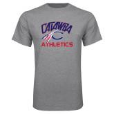 Grey T Shirt-Catawba Athletics
