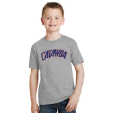 Youth Grey T-Shirt-Catawba Primary Mark