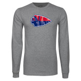 Grey Long Sleeve T Shirt-Arrowhead