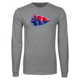 Grey Long Sleeve T Shirt-Arrowhead