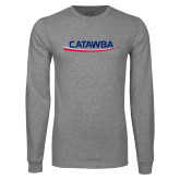 Grey Long Sleeve T Shirt-Catawba with Swoop