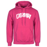Fuchsia Fleece Hood-Catawba Primary Mark