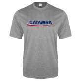 Performance Grey Heather Contender Tee-Catawba with Swoop