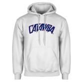 White Fleece Hoodie-Catawba Primary Mark