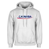 White Fleece Hoodie-Catawba with Swoop