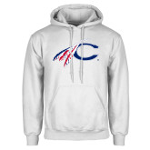 White Fleece Hoodie-C with Feathers