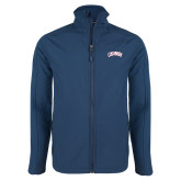 Navy Softshell Jacket-Catawba Primary Mark