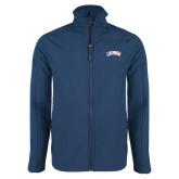 Navy Softshell Jacket-Catawba Primary Mark