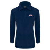 Columbia Ladies Half Zip Navy Fleece Jacket-Catawba Primary Mark