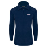 Columbia Ladies Half Zip Navy Fleece Jacket-Catawba with Swoop